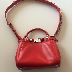 af361dac92 Fendi Mini Peekaboo Special Edition Red